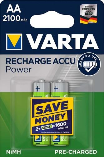 Varta Cons.Varta Recharge Accu Power AA 1,2V/2100mAh/NiMH 56706 Bli.2