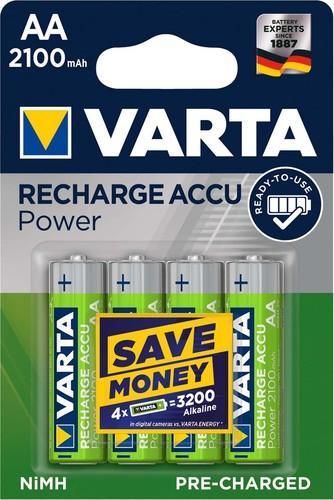 Varta Cons.Varta Recharge Accu Power AA 1,2V/2100mAh/NiMH 56706 Bli.4