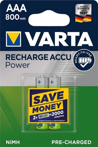 Varta Cons.Varta Recharge Accu Power AAA 1,2V/800mAh/NiMH 56703 Bli.2