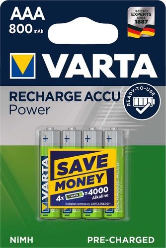 Varta Cons.Varta Recharge Accu Power AAA 1,2V/800mAh/NiMH 56703 Bli.4