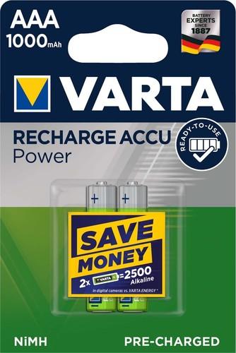 Varta Cons.Varta Recharge Accu Power AAA 1,2V/1000mAh/NiMH 5703 Bli.2