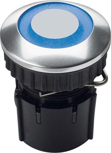 Grothe Klingeltaster LED Ring bl Edelstahl V2A PROTACT 220 LED