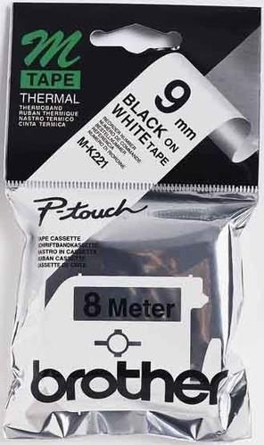 Brother Schriftbandkassette BF.weiß/ DF.schwarz M-K221S