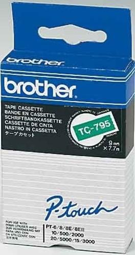 Brother Schriftbandkassette BF.grün/DF.schwarz TC-791