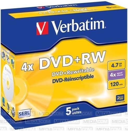 Verbatim DVD+RW Jewelcase 5 Discs VERBATIM 43229(VE5)