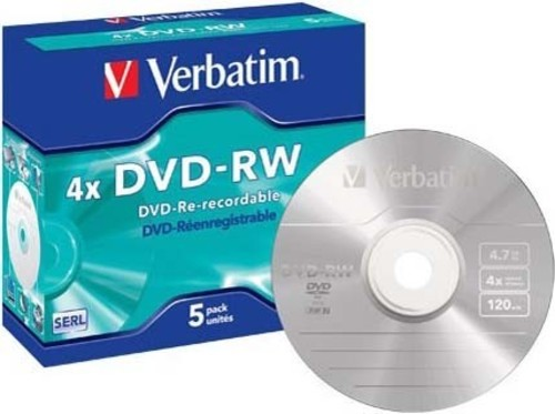 Verbatim DVD-RW Jewelcase 5 Discs VERBATIM 43285(VE5)