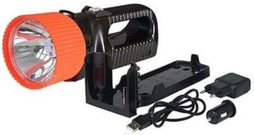 AccuLux LED Fernstrahler 230V/12-24V, sw/rt 442181