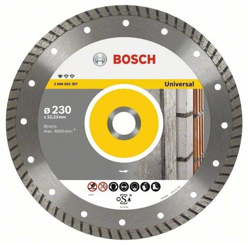 Bosch Power Tools Diamanttrennscheibe 115x22,23x2x10mm 2608602393