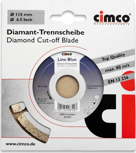 Cimco Diamanttrennscheibe D=115mm 20 8700
