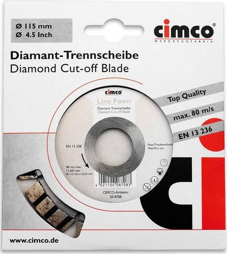 Cimco Diamanttrennscheibe D=115mm 20 8708