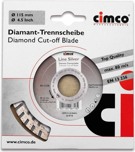 Cimco Diamanttrennscheibe D=115mm 20 8718