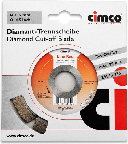 Cimco Diamanttrennscheibe D=115mm 20 8752