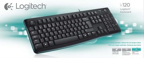 Logitech Tastatur USB LOGITECH K120 sw