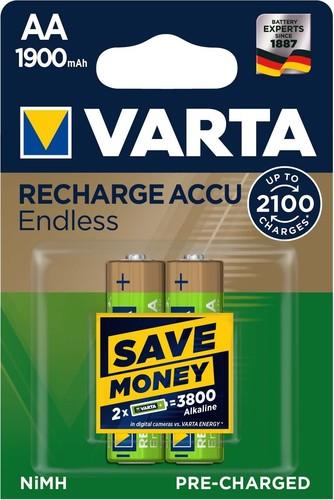Varta Cons.Varta Recharge Accu Endless AA 1,2V/1900mAh//NiMH 56676 Bli.2
