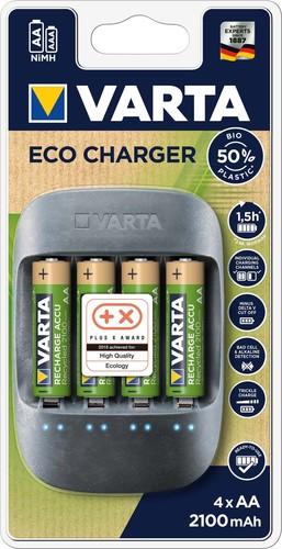 Varta Cons.Varta Ladegerät Eco Charger inkl. 4AA 2100mAh 57680(4x56816)