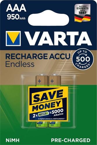 Varta Cons.Varta Recharge Accu Endless AAA 1,2V/950mAh//NiMH 56683 Bli.2