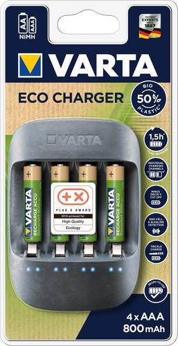 Varta Cons.Varta Ladegerät Eco Charger inkl. 4AAA 800mAh 57680(4x56813)