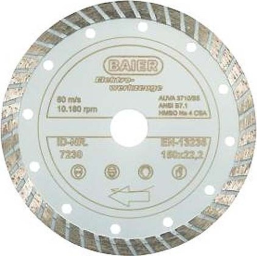 Baier Maschinenfabrik Diamantscheibe D=125mm Turbo 7228
