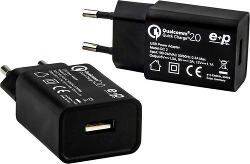 E+P Elektrik USB-Ladegerät QC2.0QuickCharge QC2sw