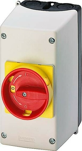 Siemens Indus.Sector Aufbaugehäuse 54mm Not-Aus 3RV1923-1FA00