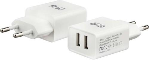 E+P Elektrik USB-Ladegerät 2-fach,4.800mA AC102 weiß