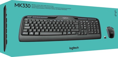 Logitech Tastatur/Maus Set Wireless,1000dpi LOGITECH MK330USB sw