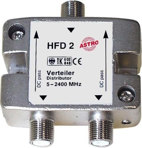Astro Strobel Sat-Verteiler 2-fach 4-8db 5-2400MHz HFD 2