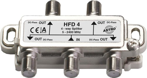 Astro Strobel Sat-Verteiler 4-fach 11-13db 5-2400MHz HFD 4