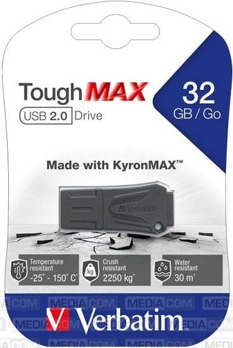 Verbatim USB-Stick 32GB 2.0 ToughMAX,sw VERBATIM 49331