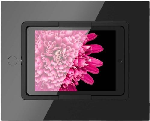 Viveroo iPad Wandhalterung mit schwarz Glasfront squareDeepBlack9,7