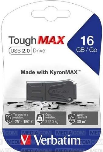 Verbatim USB-Stick 16GB 2.0 ToughMAX,sw VERBATIM 49330