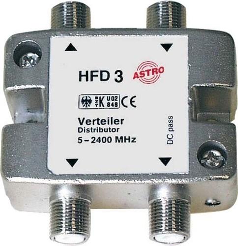 Astro Strobel Sat-Verteiler 3-fach 8-12db 5-2400MHz HFD 3