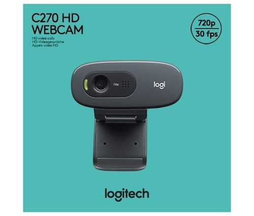 Logitech Webcam USB 3MP HD, sw, Retail LOGITECH C270