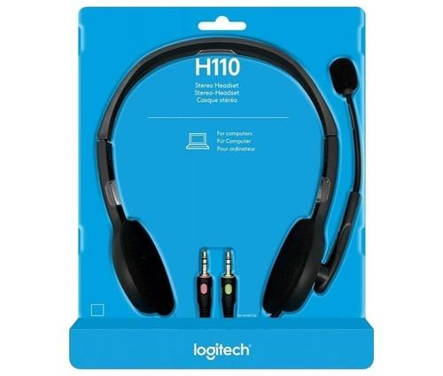 Logitech Headset Stereo sw, Retail LOGITECH H110