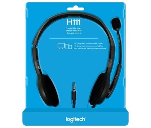 Logitech Headset Stereo sw, Retail LOGITECH H111