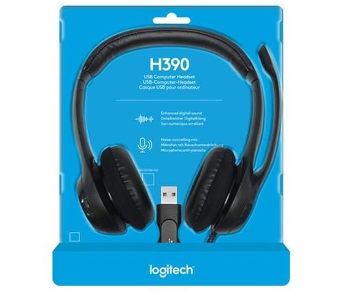 Logitech Headset Stereo sw, Retail LOGITECH H390 USB