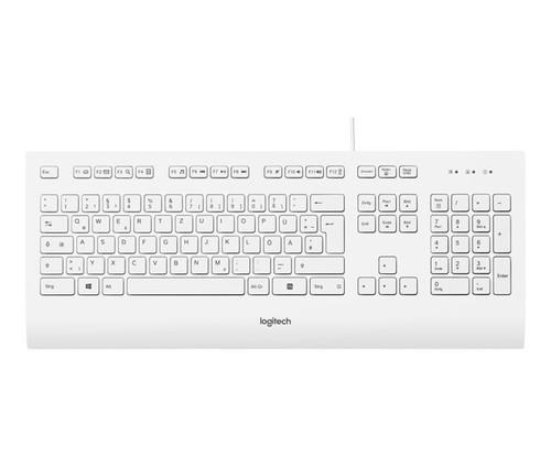 Logitech Tastatur USB, Business LOGITECH K280e weiß