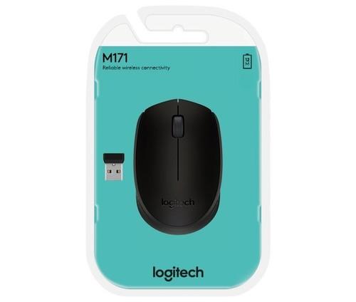 Logitech Maus Wireless Optisch,1000dpi,3Ta LOGITECH M171 sw