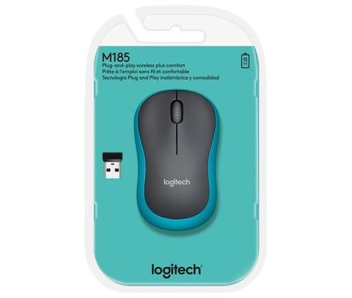 Logitech Maus Wireless Optisch LOGITECH M185 bl