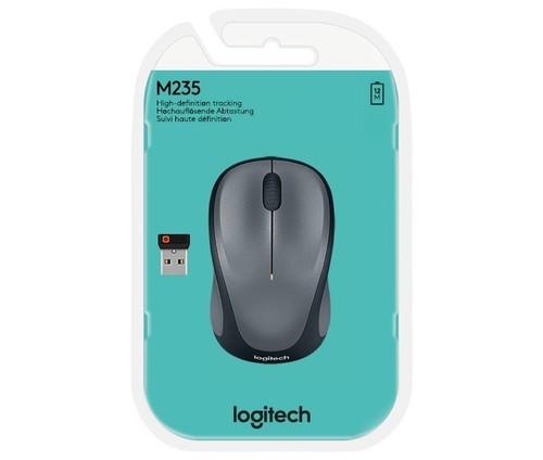 Logitech Maus Wireless Optisch,1000dpi,3Ta LOGITECH M235 gr