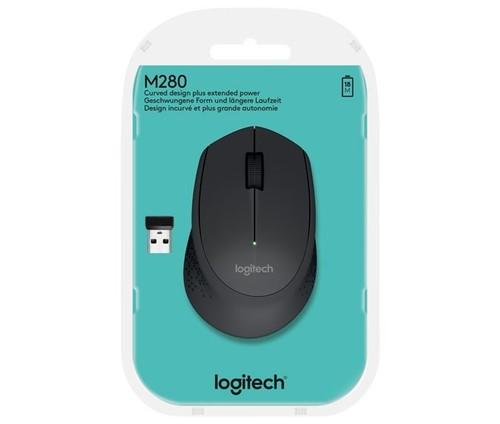 Logitech Maus Wireless Optisch,1000dpi,3Ta LOGITECH M280 sw