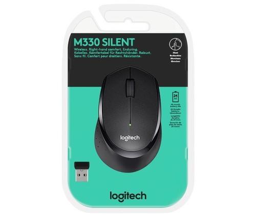 Logitech Maus Wireless Silent,Optisch LOGITECH M330 sw