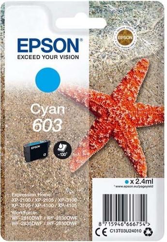 Epson Tintenpatrone cyan EPSON 603 2,4ml cy