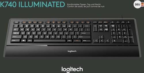 Logitech Tastatur USB LOGITECH K740 sw
