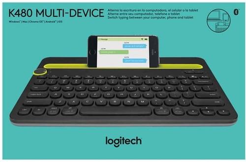 Logitech Tastatur Wireless Multi-Device LOGITECH K480 sw