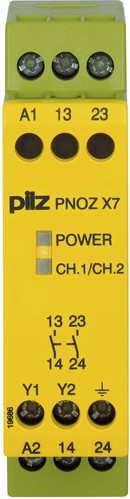 Pilz Not-Aus-Schaltgerät 230VAC 2n/o PNOZ X7 #774056