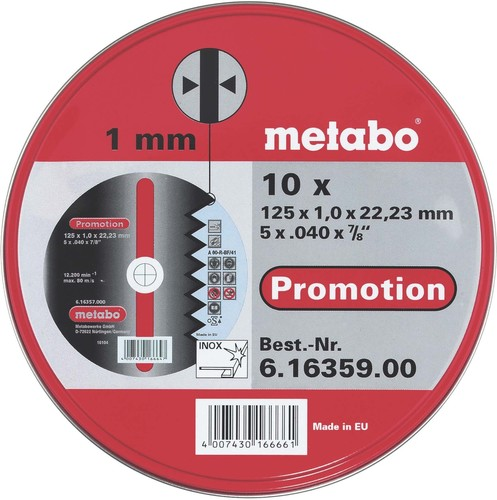 Metabowerke Trennscheibe 125x1,0x22,23 616359000 (VE10)