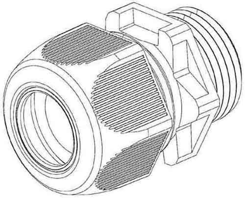 HKL Kabelverschraubung gr,D=3-6mm 350M12