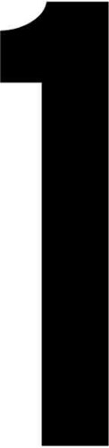 RZB Ziffer schwarz 120mm f.d.superflache HNL 99223.013.1