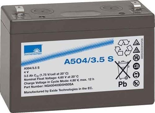 Deutsche Exide Dryfit-Akku 4V 3,5Ah A504/3,5 S